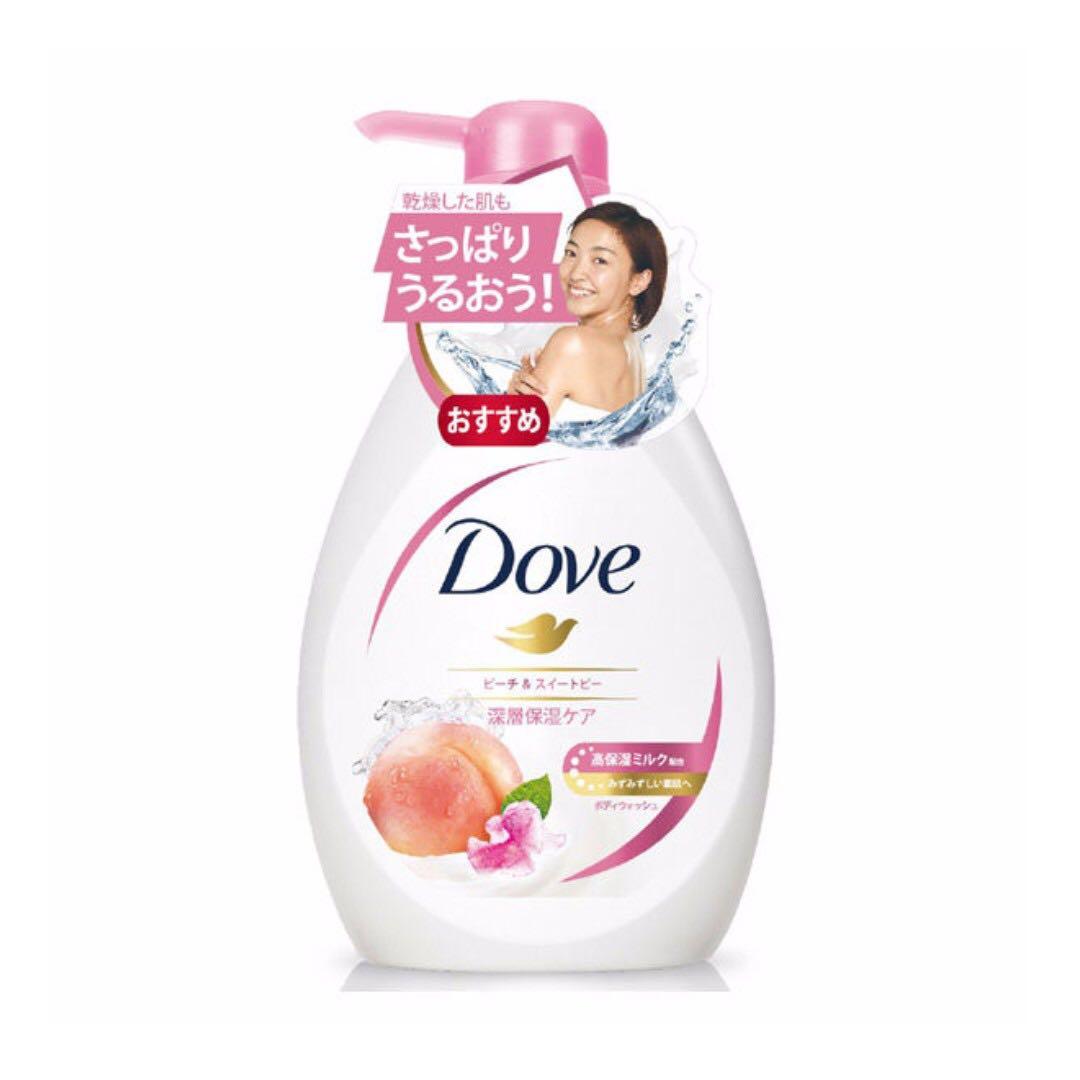 [全新未拆封] 多芬香甜蜜桃沐浴乳 500g 送康是美50元折價卷