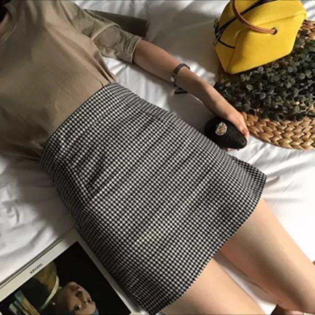 千島格紋 短裙 #我的女裝可超取