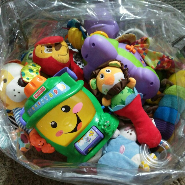 A bag of baby toys
