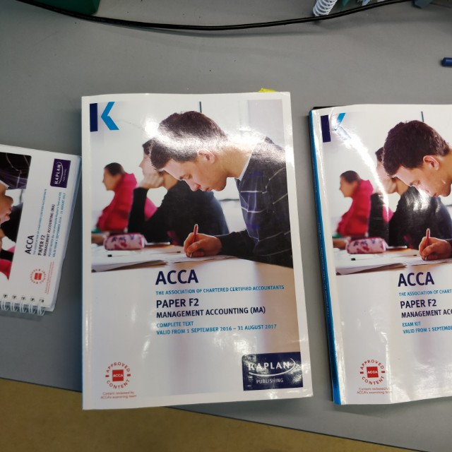 ACCA F2 Kaplan Textbook, Practice Questions, and Pocket Notes