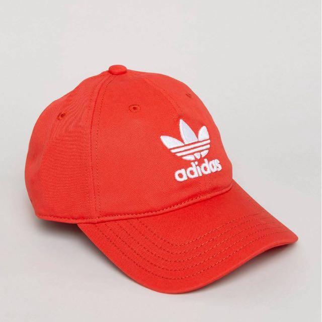 adidas originals trefoil cap in red 紅色老帽