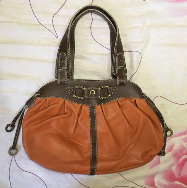 AIGNER leather bag ori