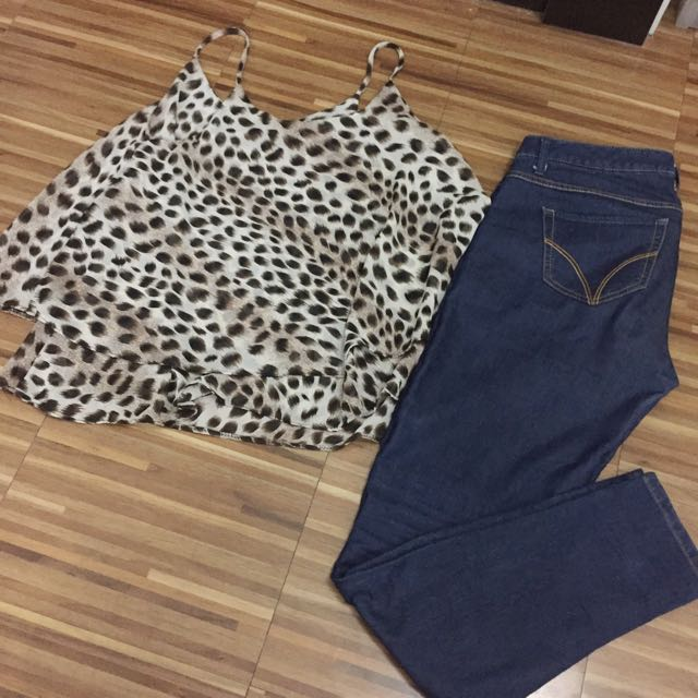 Animal Print Flowy Top
