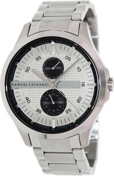 Armani Exchange Mens AX2117 Silver Stainless-Steel Quartz Watch