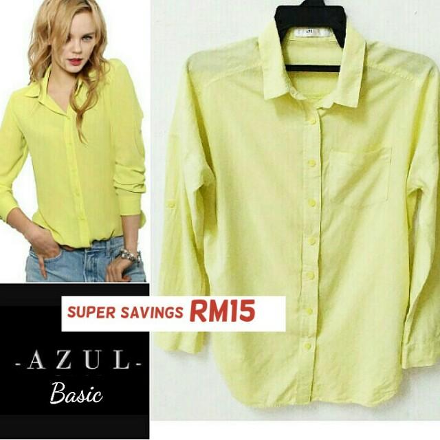 💯Authentic brand AZUL BASIC blouse RM10 (U.P. RM25)