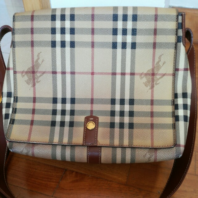 Authentic Burberry Sling Bag, Luxury, Bags   Wallets on Carousell 092381c405