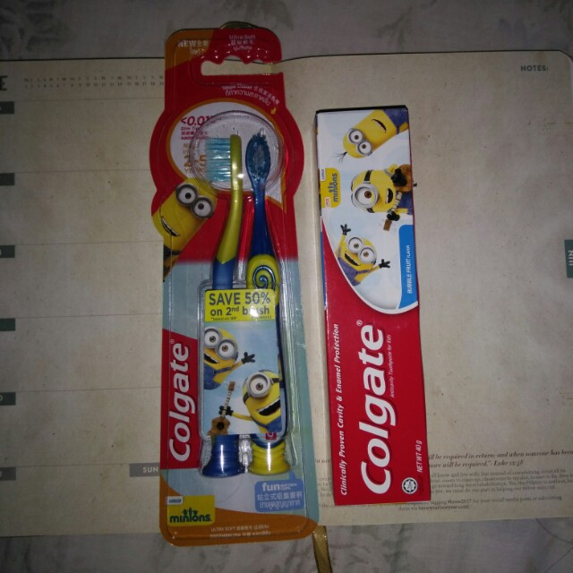 baby toothbrush and toothpaste
