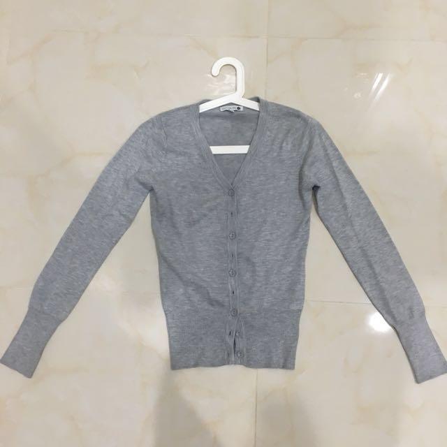baleno grey cardigan