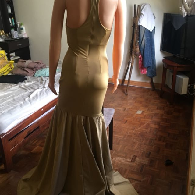 Beige Serpentine gown for sale bnew