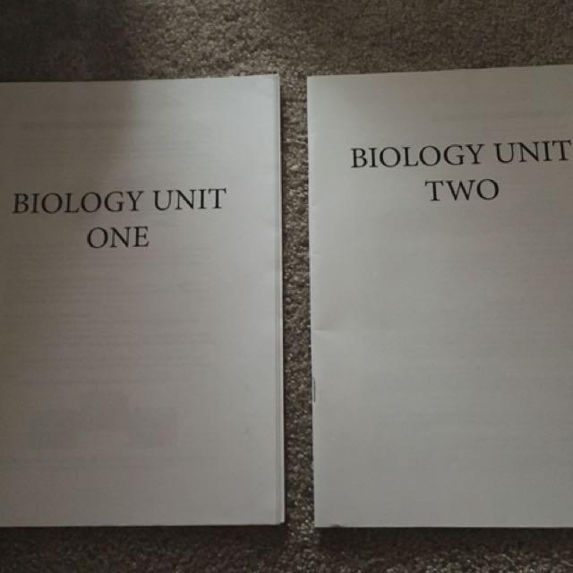 Biology Unit 1&2 Notes