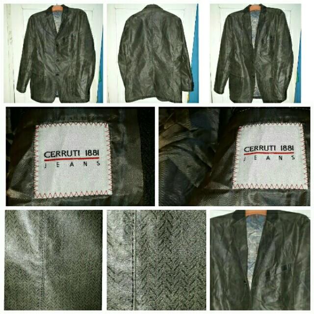 blazer kulit brand Cerruti 1881