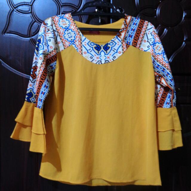 Blouse Tunic Kuning