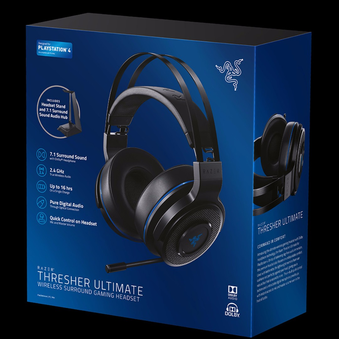 a66a1ca9bbc BNIB Razer Thresher Ultimate PS4 Best Wireless Gaming Headset, Electronics,  Audio on Carousell