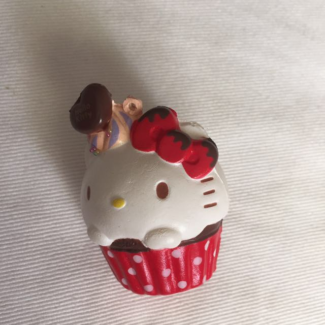 BNIP Hello Kitty cupcake squishy, Toys & Games, Bricks & Figurines on Carousell