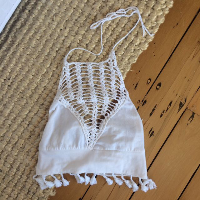 Boho Tie Top with tassels
