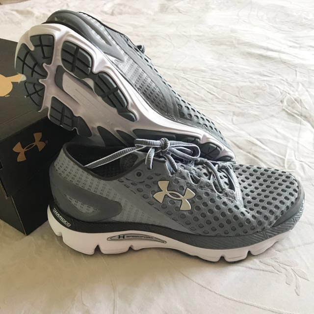 outlet store sale 55a75 3b5f9 Brand New Under Armour Women's UA SpeedForm Gemini 2 Running Shoes  (Steel/White)