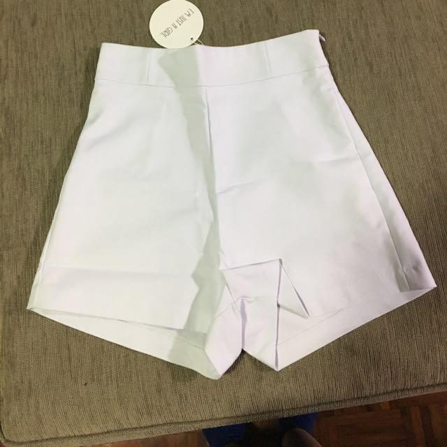 Brand new white shorts size 8, Littlelace