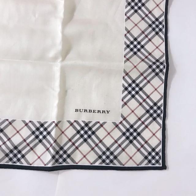 Burberry 經典格紋 絲巾 手帕 手巾 Hermès
