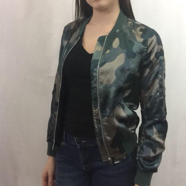 Camo jacket size S