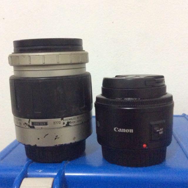 Canon Fix 50mm + Tamron 28-80