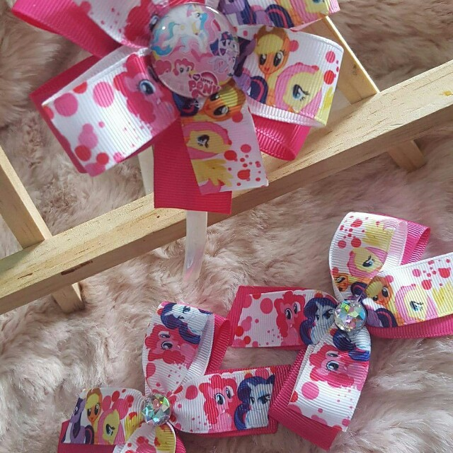 Character Hair Bows Set Headband and Clips