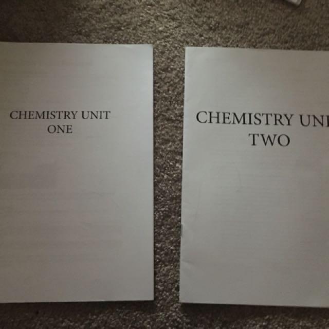 Chemistry Unit 1&2 Notes
