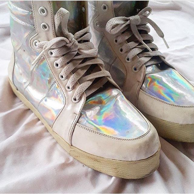 CHIEL SHOES Hologram High Top Sneakers