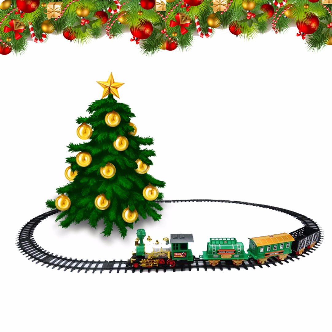 Christmas Train & Track set with Steam and Sound best train gift ...