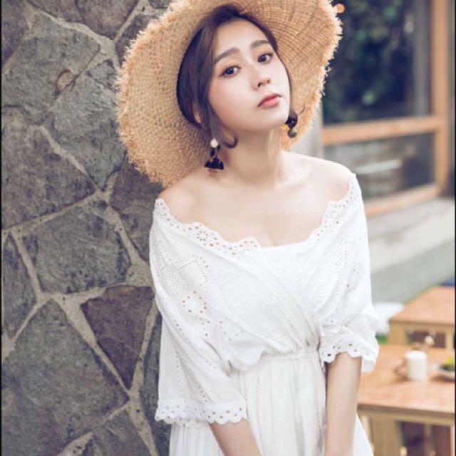 全新轉賣唐葳ciao a day 白色蕾絲洋裝