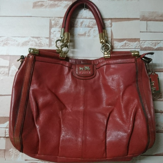 COACH 2-way leather bag