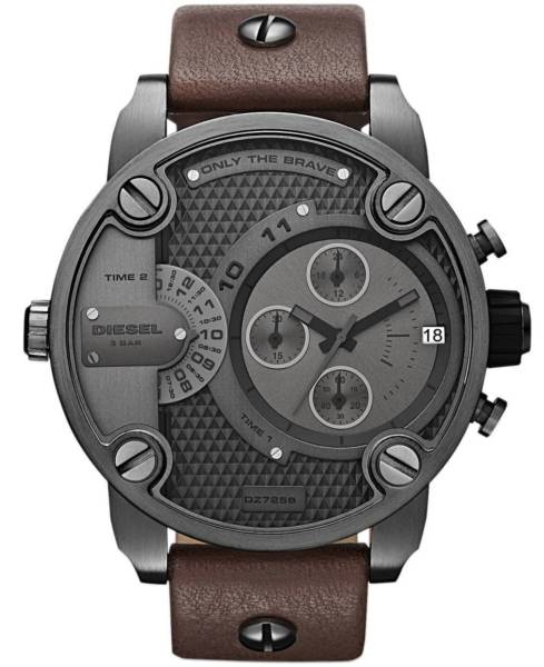 Diesel SBA Only The Brave Brown Oversized Dial Dualtime DZ7258