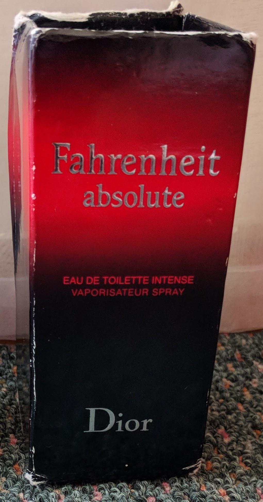 Fahrenheit Absolute (Christian Dior) for man.