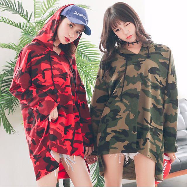 52de7b44a3858 🔥[FAST PO] (M-3XL) Korean Ulzzang Camo Hoodie Loose Oversize T ...