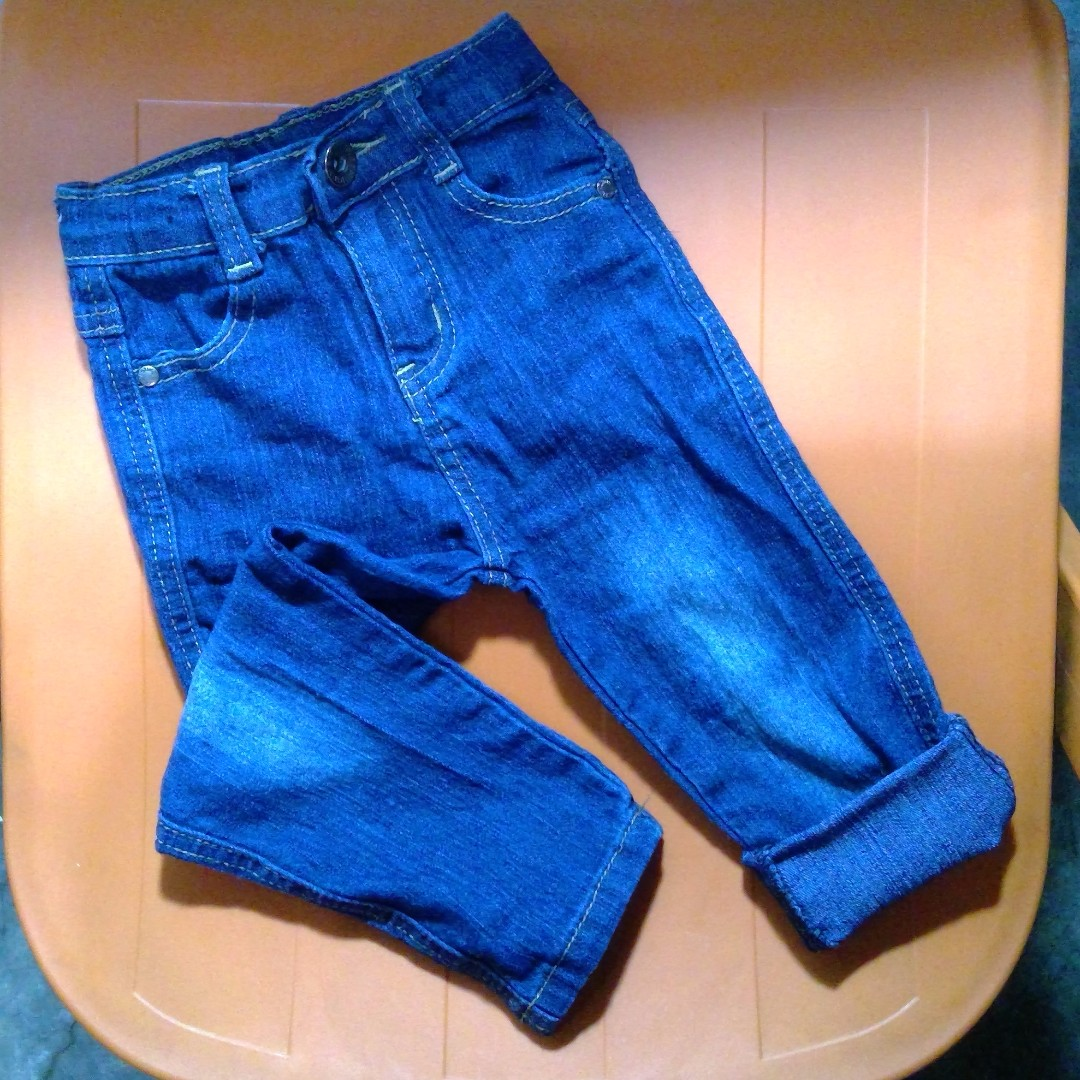 FINAL PRICE Stylish Adjustable Denim Pants for Infants 12M to 24M