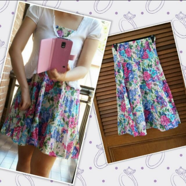 Floral strapless summer - fits 8-10