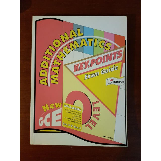 GCE O'LEVEL A-MATH Key Points Exam Guide, Books & Stationery