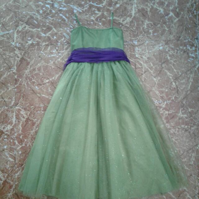 Girls Green Gown
