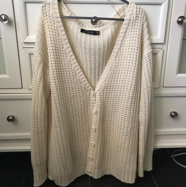 GLASSONS oversized knitted cardigan