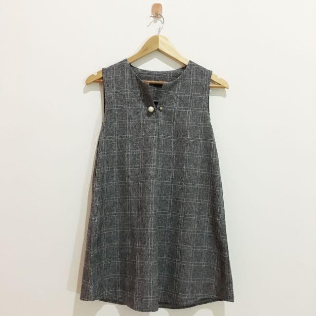 GREY MINI DRESS / DRESS PESTA