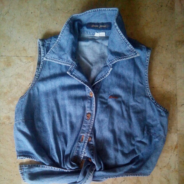 Guess maong crop top for kids