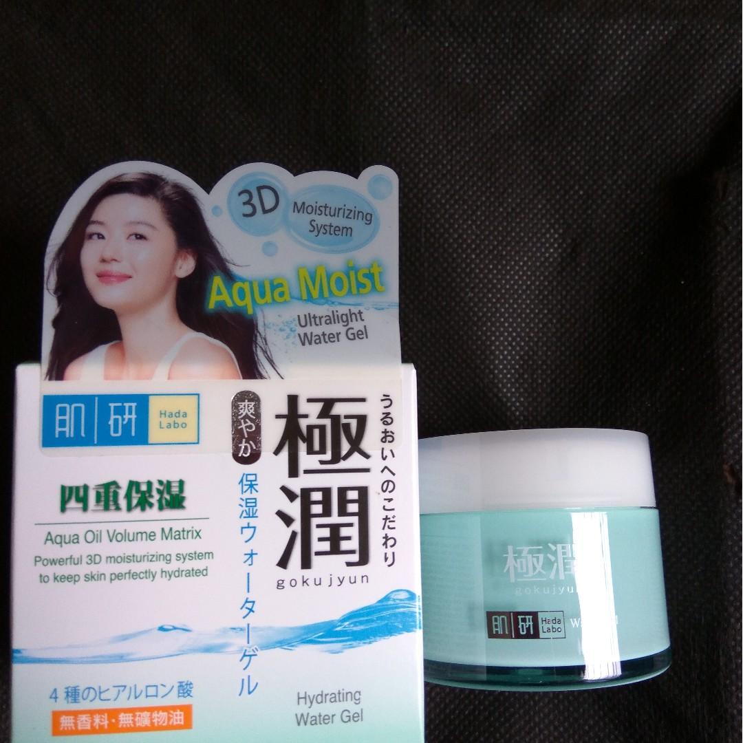 Hada Labo Aqua Moist Gel Health Beauty Skin Bath Body On Wardah Hydrating Moisturizer Cream 400 Ml Carousell