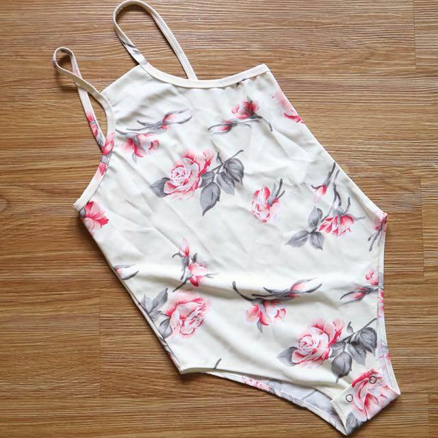 Halter Floral Bodysuit