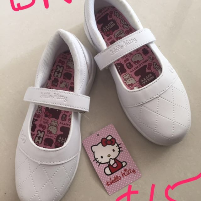 fd4225d87 Hello Kitty Sanrio White school shoes on Carousell