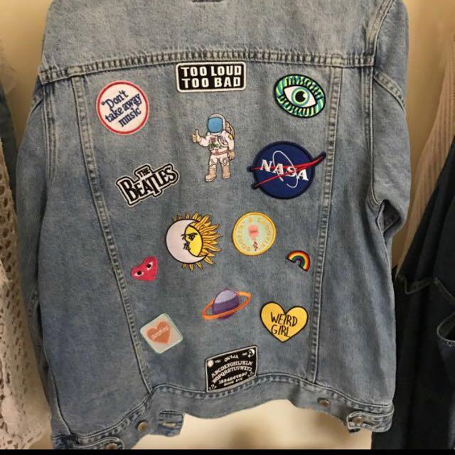 Insight denim patch jacket