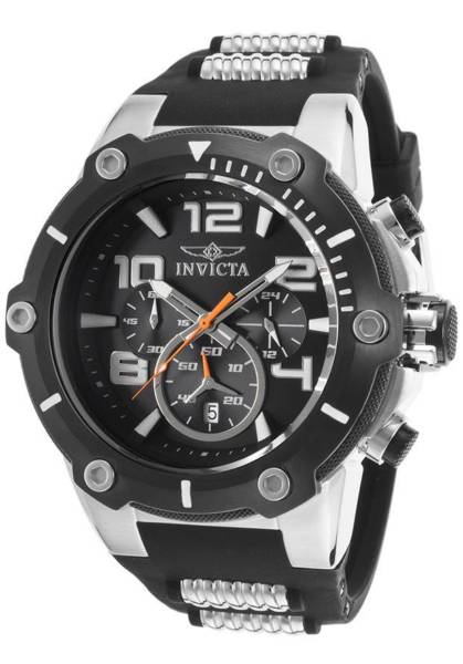 """Invicta 17202SYB Mens """"Speedway"""" Stainless Steel Watch Black"""