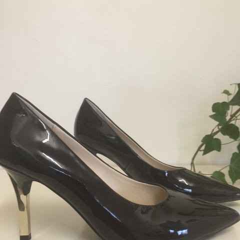 Jane Debster as new black patent heels