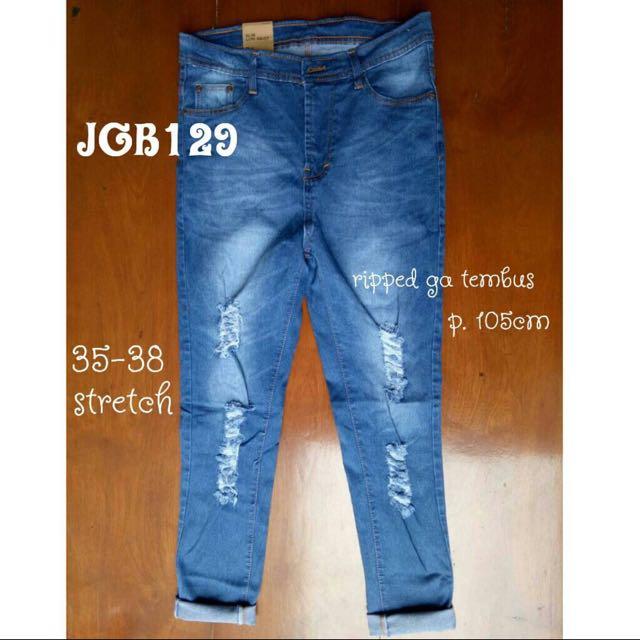 Jeans Jumbo Robek Serat