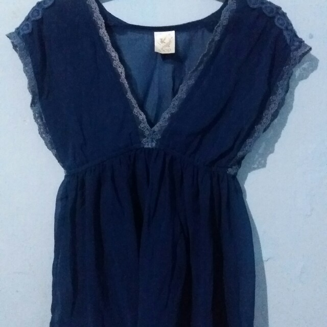 Joop Blue Navy Lace Top