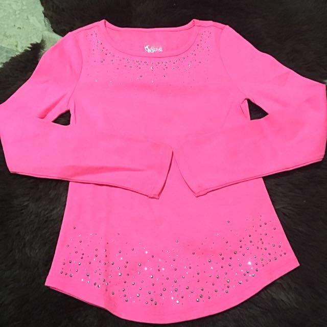 Justice Pink Long Shirt