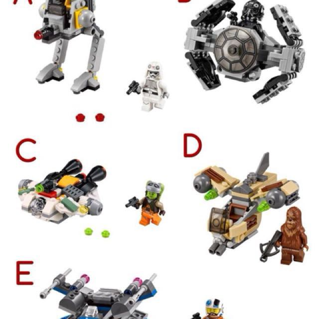 Lego Starwars Microfighters series 3